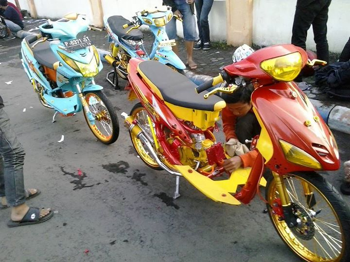 contoh modifikasi mio street racing