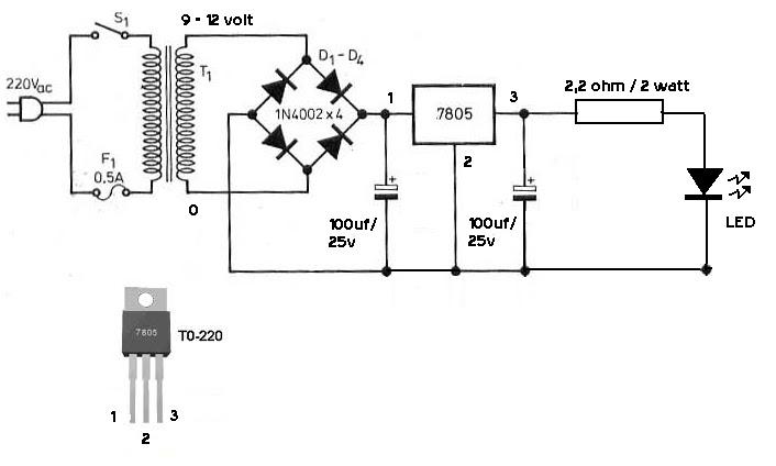 elektronika dasar  led driver 3 watt