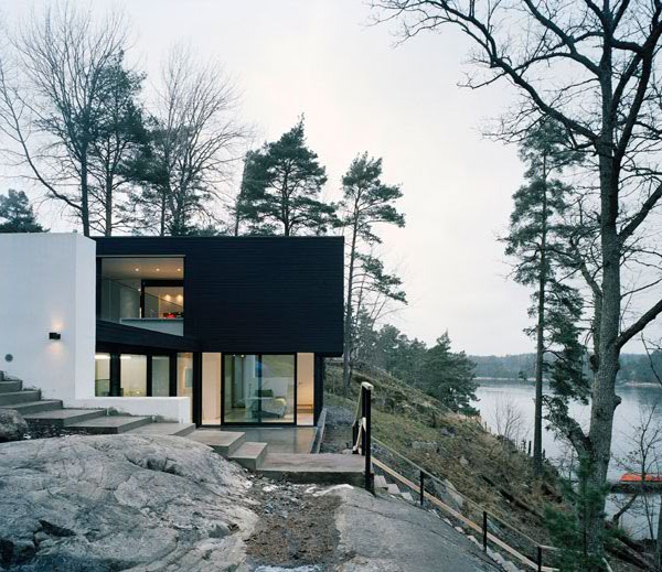 Modern house plans 2012 modern house plans designs 2014 for Lake house plans for steep lots