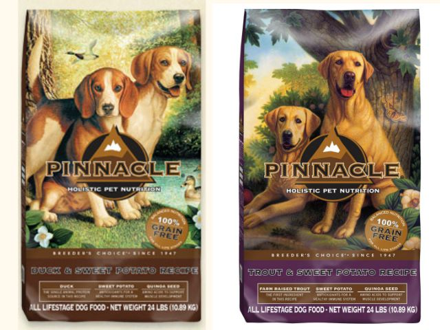 Pinnacle Pet Food's dog recipes are now all grain-free