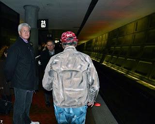 old man subway walking