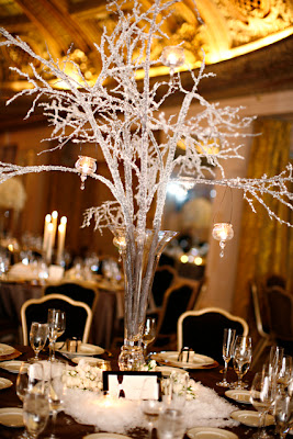 Crystal Branches Wedding Centerpieces