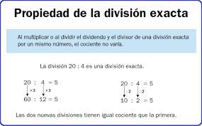 Propiedad de división exacta