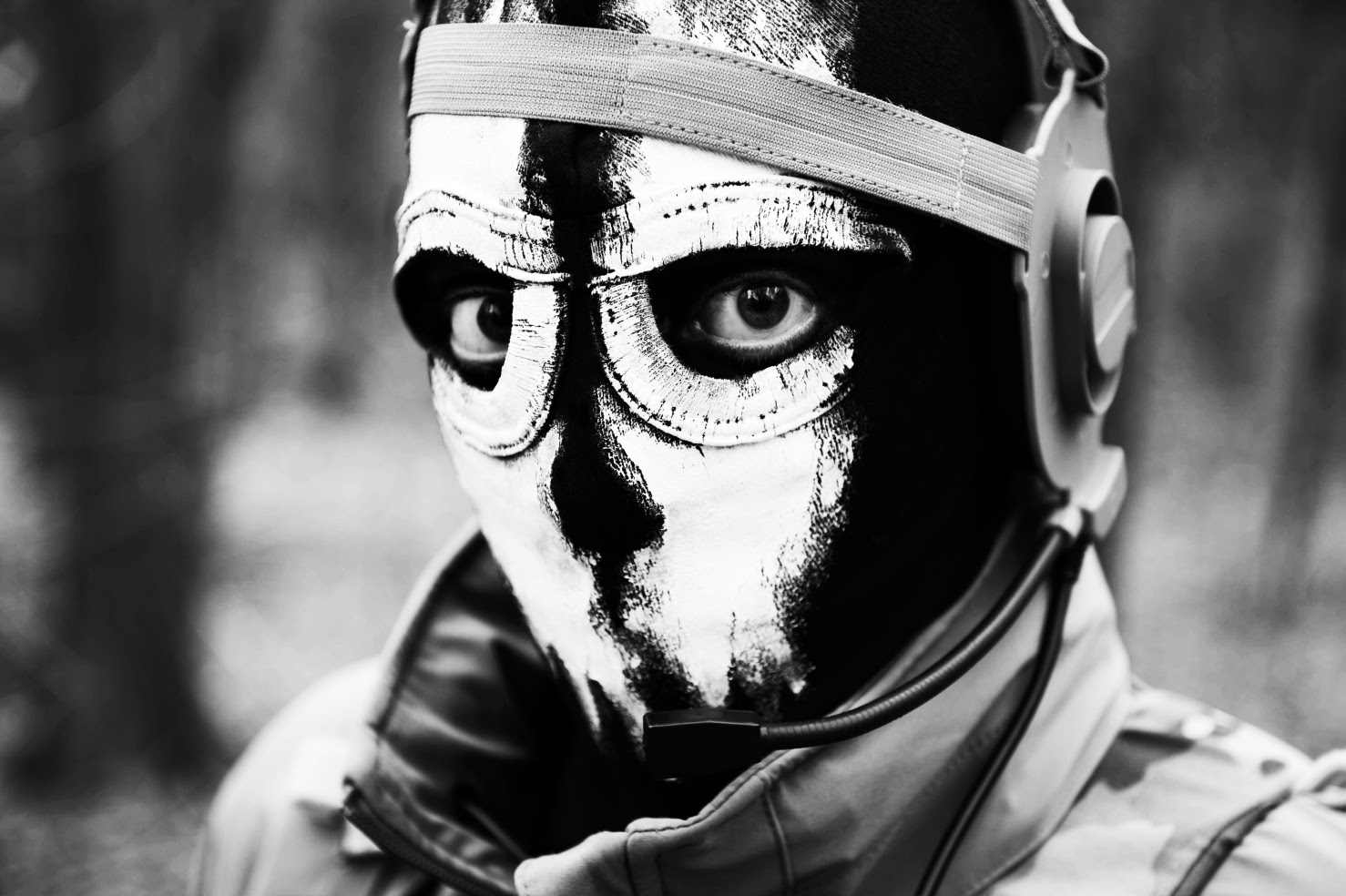 Cod Ghost Mask Warrior - klejonka