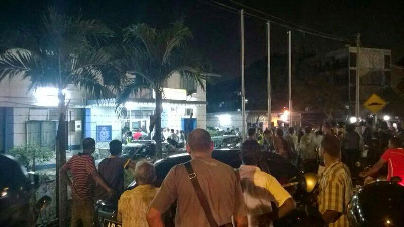 GEMPAR WAKTU SAHUR BALAI POLIS KG BARU BUNTONG DIKEPUNG GANGSTER INDIA SEKARANG