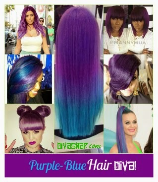Trendy Hair Diva: See How To Rocked The Purple-Blue Hair Trend!