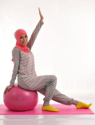 Model Baju Senam Muslim Terbaru 2015