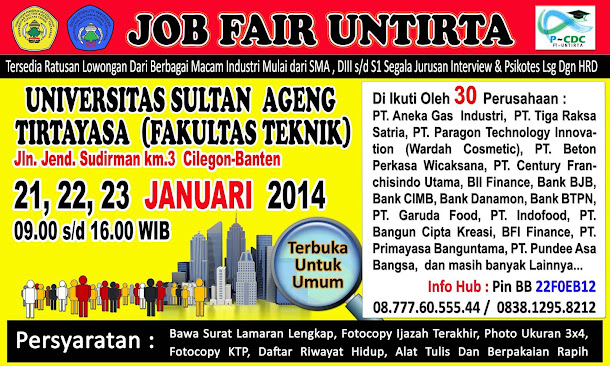 Job Fair FT UNTIRTA Januari 2014