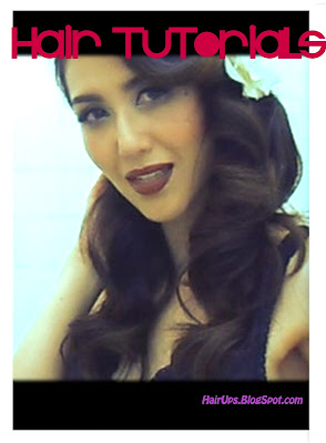 retro vintage pin up hair tutorial on medium long hair - loose waves
