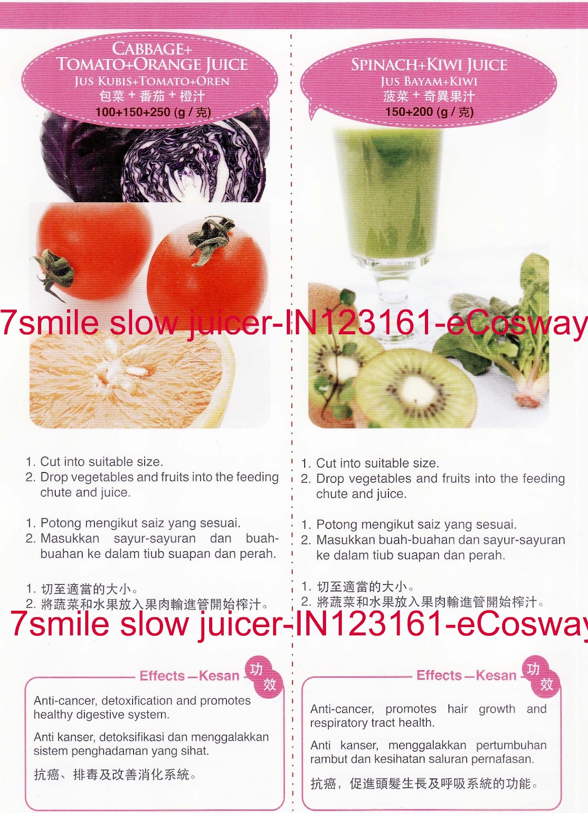 Slow Juicer Spinach : 7 Smile Slow Juicer