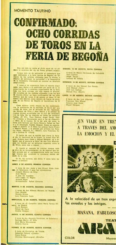 8 corridas gijon 1977