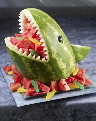 Sandia en forma de tiburon