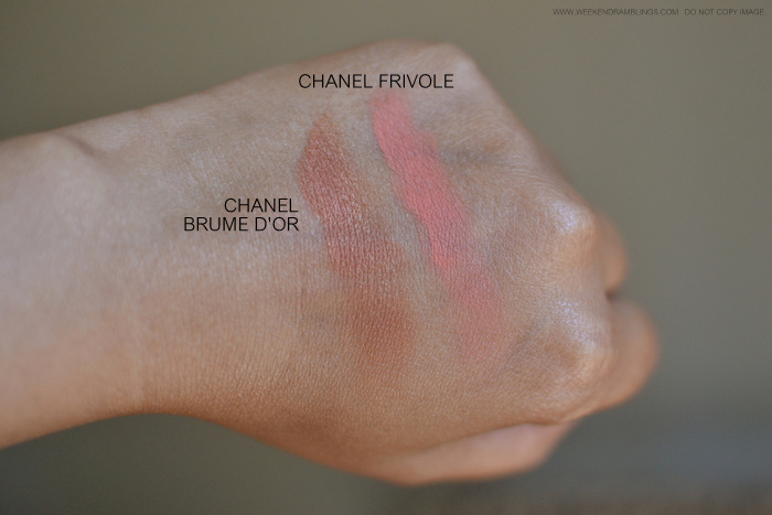 Best Must Have Bright Blushes for Summers Makeup Photos Swatches Chanel Frivole Brume Dor