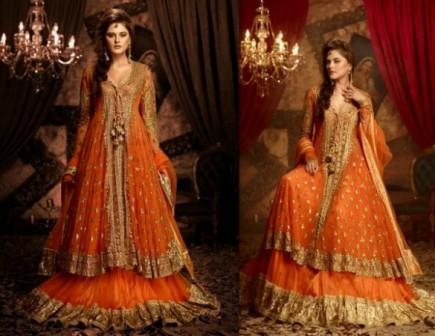 Mehndi Dresses : Long frocks pakistani dresses mehndi designs
