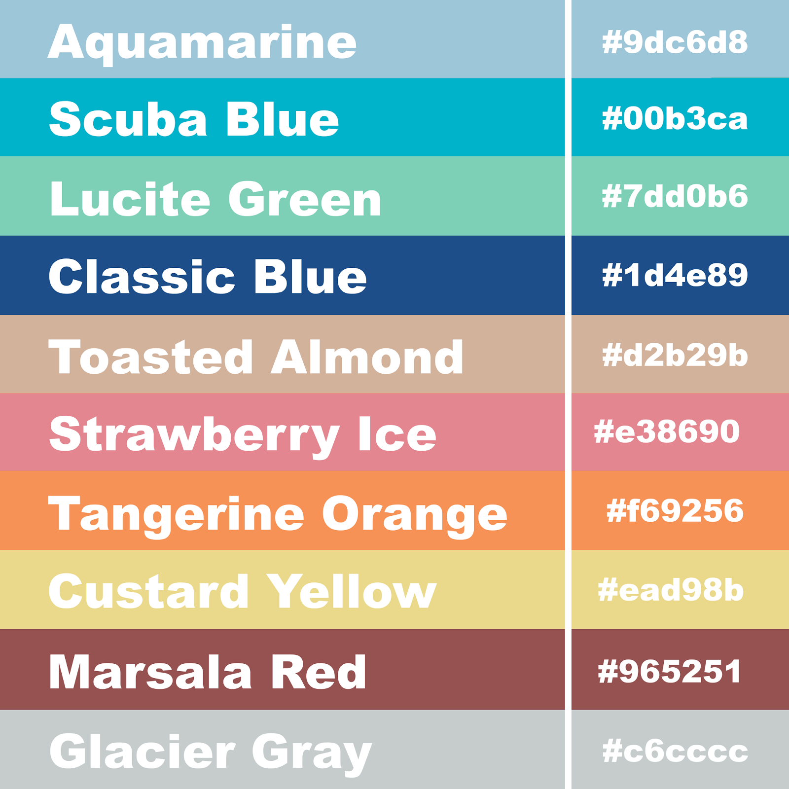 hex codes for colors