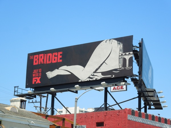 The Bridge split series premiere billboard