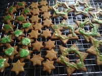 iced gingerbread star biscuits