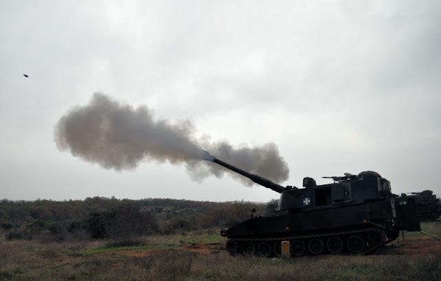 Βολές Βαρέων Όπλων ΠΖ και Πυροβολικού, από το Προσωπικό της 50 Μ/Κ ΤΑΞ