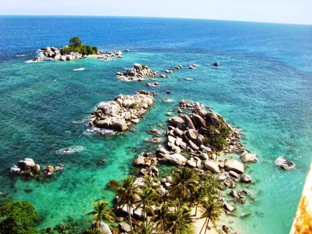 Pulau Lengkuas Belitung dari Mercusuar