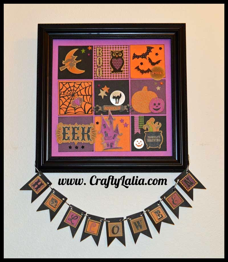 Halloween Shadow Box with CTMH Scaredy Cat | CraftyLalia.com