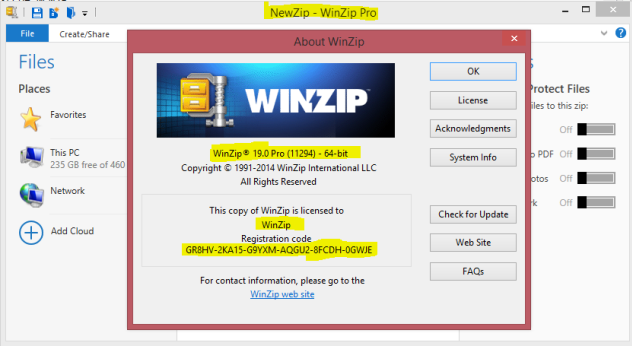 WinZip 19 Pro Full Serial Key