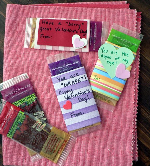 Healthy Valentine Treats for kids, fruit leather valentine