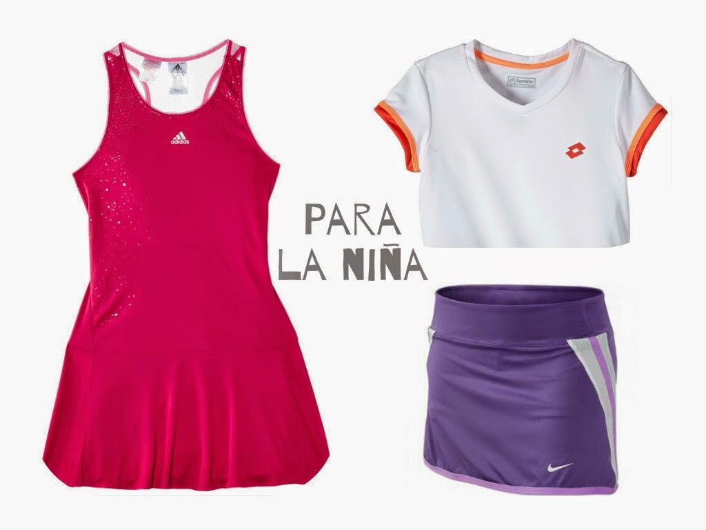 vestido, blusa y falda para tenis