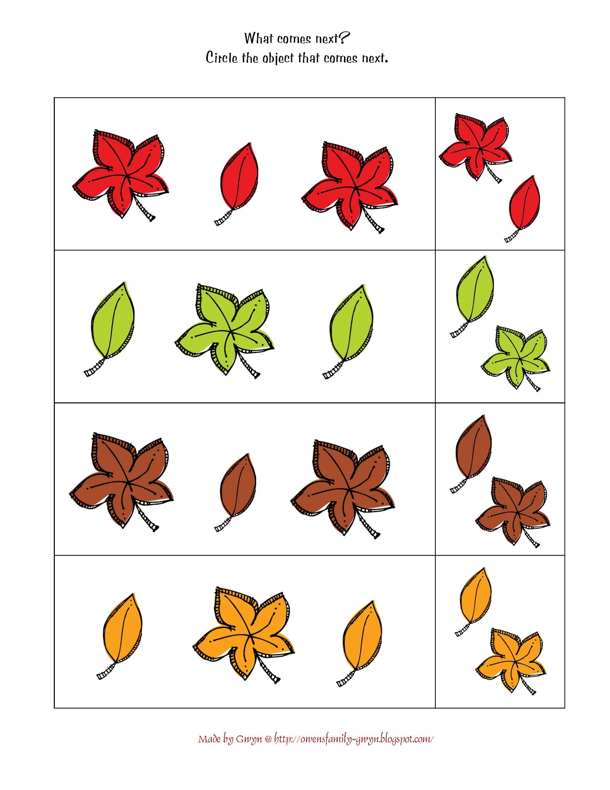 It's just a photo of Zany Fall Printable Activities