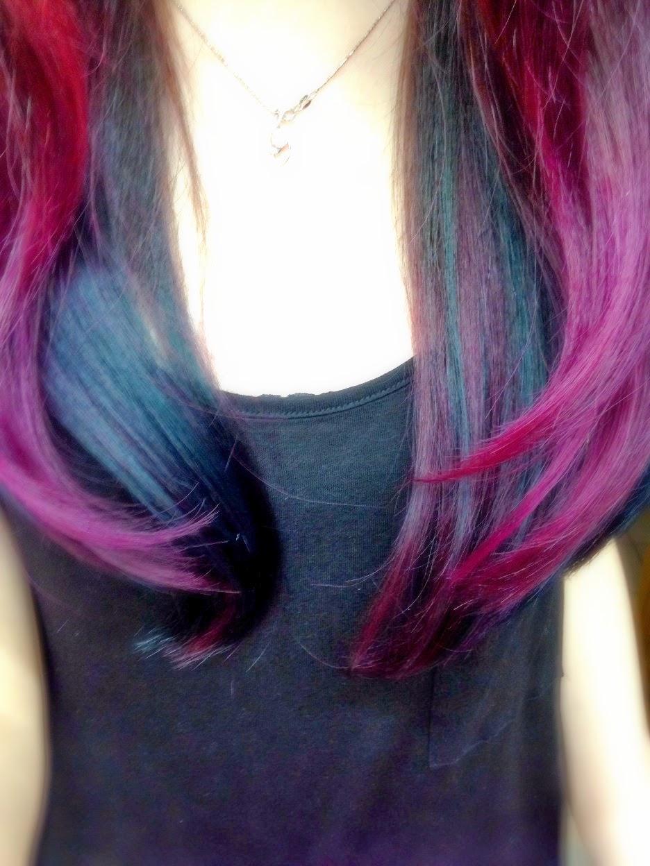 mayhem my pink blue ombre hair