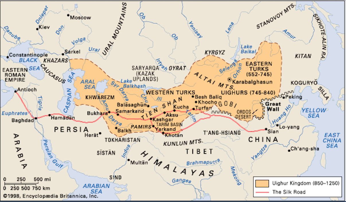 Kirghiz steppe map location