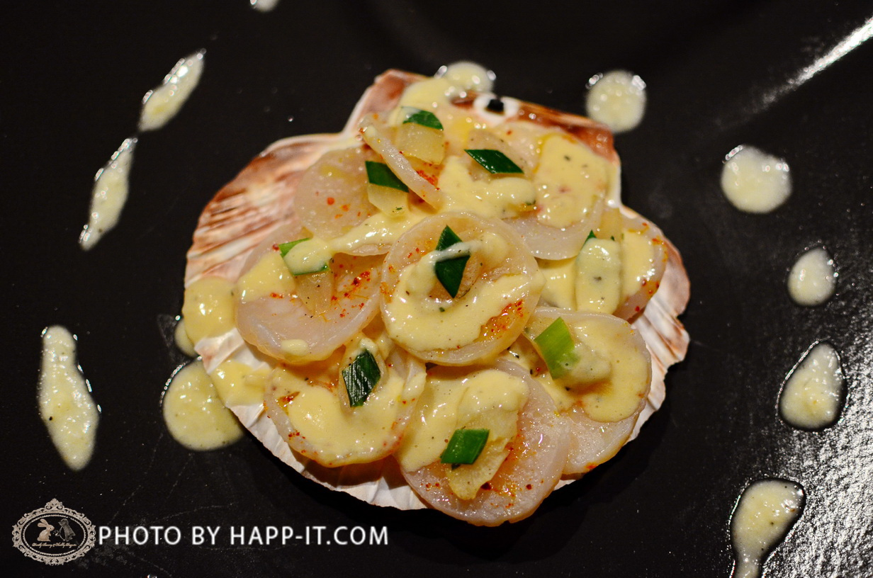 Sea Scallops with Leeks and Salsifles, Creamy Horseradish Sauce