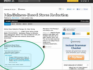 Mindfulness-Based Stress Reduction Free Introductory Class - November 29, 2011 @ theartlife.ca, Screenshot: paper.li
