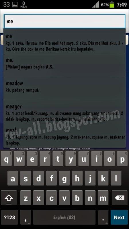 Contoh pencarian kata utama Kamus Dictionary - kamus bahasa indonesia ke inggris dan sebaliknya untuk android (rev-all.blogspot.com)