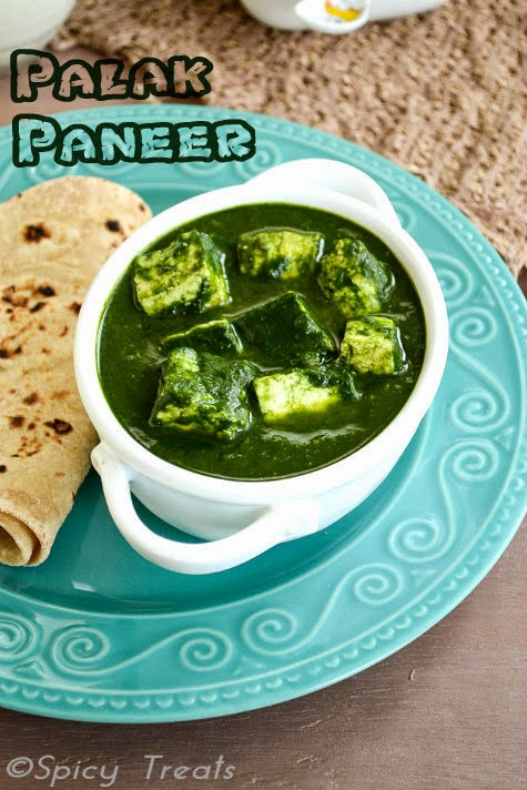 Paneer In Spinach Gravy