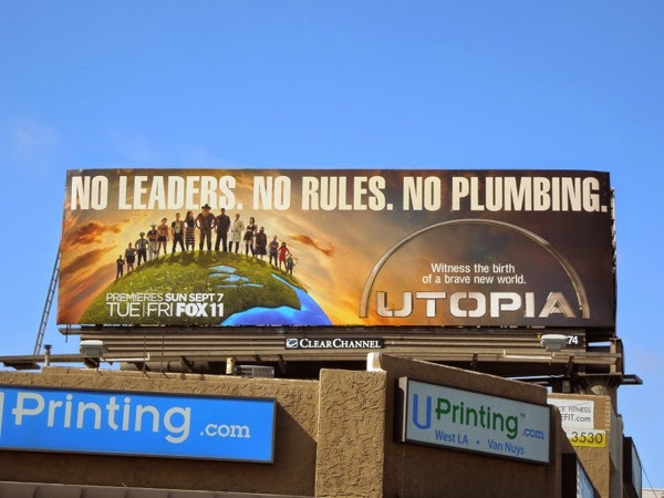 Utopia series premiere billboard