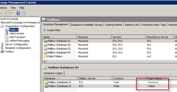 exchange server blog reseeding a failed and suspended mailbox