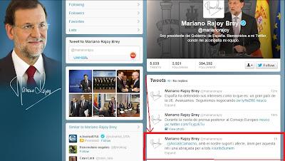 Tuit en català de Mariano Rajoy