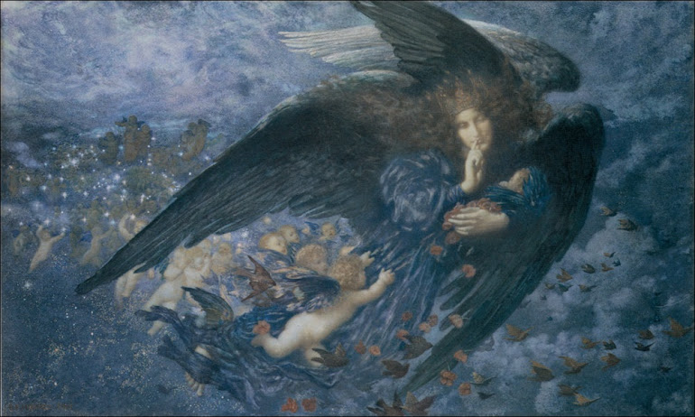 Night With Her Train Of Stars and Her Great Gift of Sleep - E R Hughes
