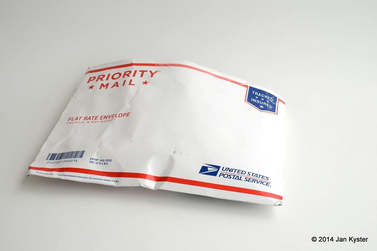 USPS padded envelope w/ L bracket