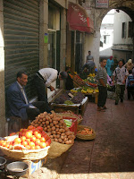 fruit sellers in Tangier