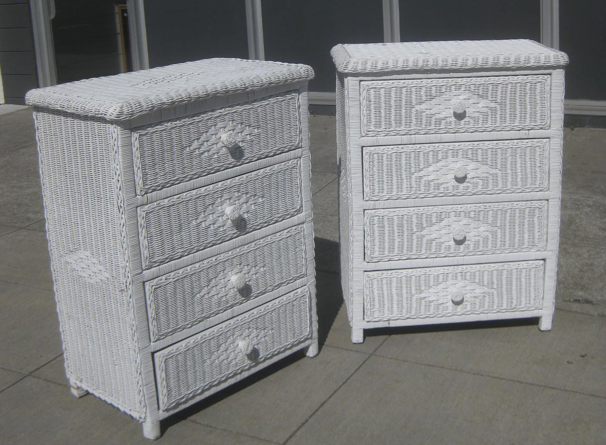 uhuru furniture collectibles sold wicker chests of drawers 50 each. Black Bedroom Furniture Sets. Home Design Ideas