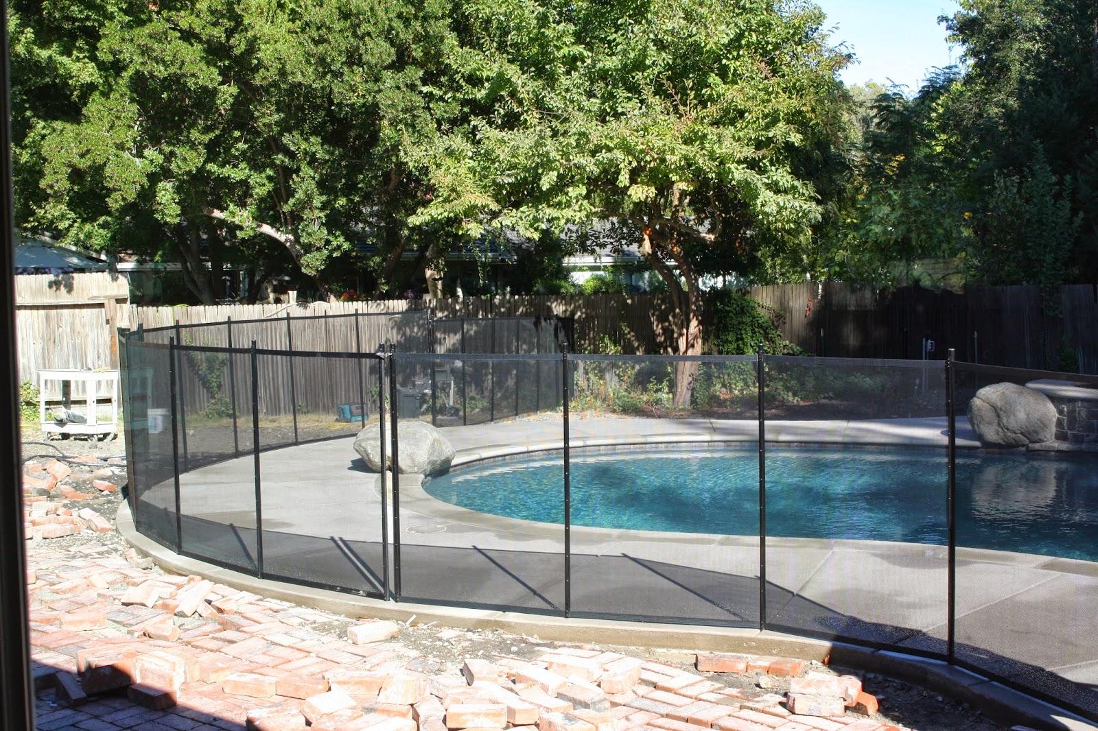 backyard update pool fence u0026 brick patio completed simply organized