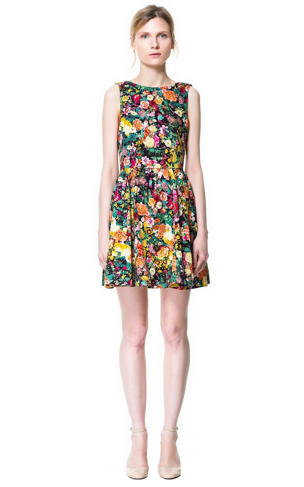 ZARA NEW COLLECTION 2013. DIVINE FLORAL PRINTED PLEATED ...