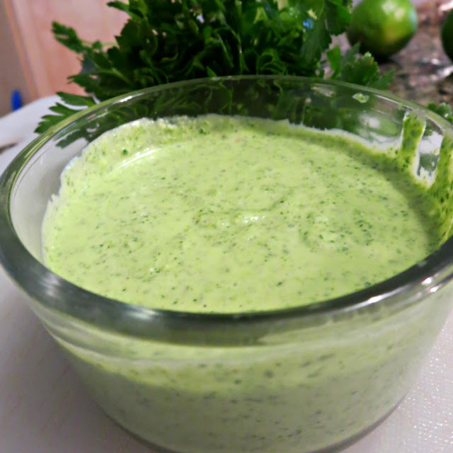 Chimichurri sauce in Magic Bullet