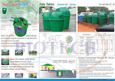 cara pasang septic tank biotech modern dan baik, septic tank design