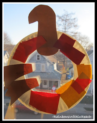 photo of: Turkey Wreath in Preschool (using paper plate) via RainbowsWithinReach