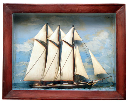 Late 19th century Sailing Ship Diorama