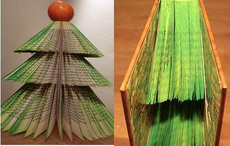 10 ideas para hacer rboles de navidad - Como hacer un arbol de papel grande ...