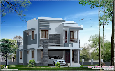 Beautiful 1650 sq.feet modern home design | House Design Plans