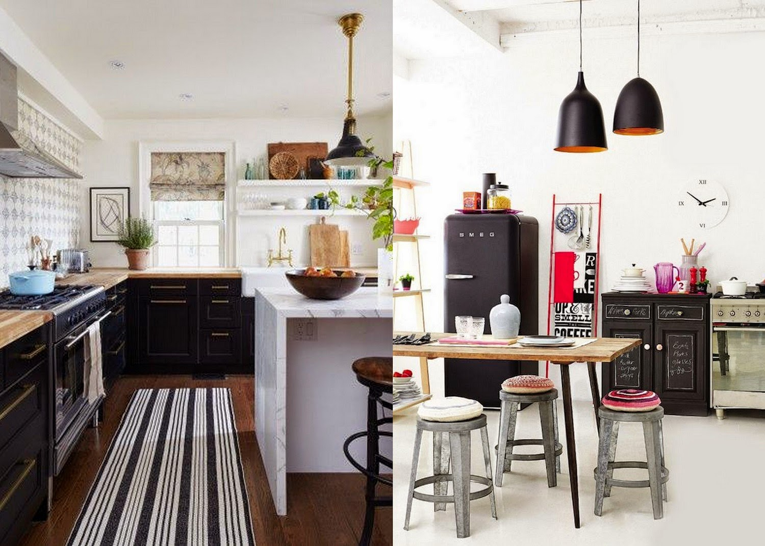 The Modern Bohemian Black Kitchen